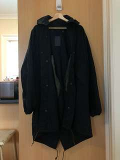 Urban Outfitters Black Oversized Hooded Anorak Jacket