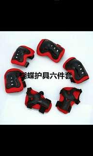Children skate roller knee pad set of 6 pads