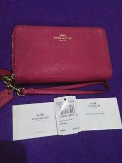 Authentic Coach Double Zip Wallet