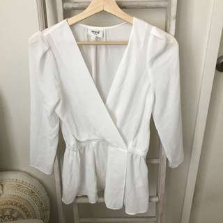 Seed white blouse top size 6