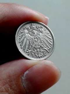 1907 German 5p coin