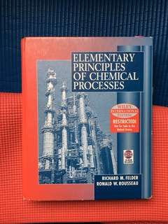 Elementary Principles of Chemical Processes (Felder and Rousseau)