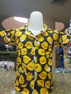 Baju Tidur Piyama Anak Unisex Motif Baby Duck Lucu Ukuran S, M, L