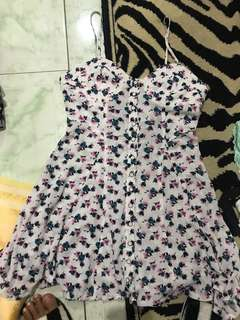 """REPRICED!! Brand New """"Forever 21"""" Button Down Bustier Mini dress"""