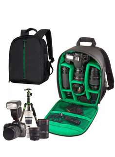 Multi-compartment Waterproof DSLR Camera Package Backpack Bag Case