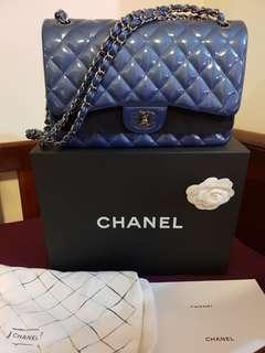 Chanel patent jumbo (seasonal piece) double flap pristine condition