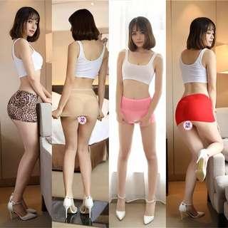 Mini skirt translucent