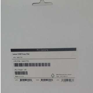 Lenovo 12.5W9 Privacy Filter ( 0A61770 )