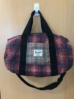 Herschel Duffel Bag Pink/Blue Tartan