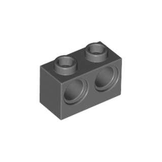LEGO 1 X 2 Dark Bluish Gray Technic Brick w Holes