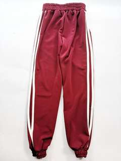 Red with whitr stripes jogger pants