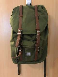 Herschel Laptop Backpack Olive Green