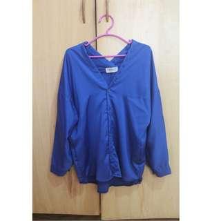 Oversized Polo (Elegant Blue)