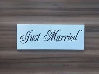Just Married Car / Table Board