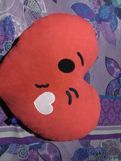 Blue magic heart pillow cute
