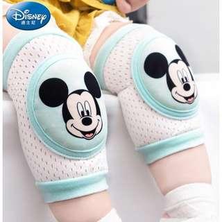 迪士尼正版嬰兒護膝寶寶爬行護膝套學步防摔嬰幼兒護膝,透氣網螺紋棉高彈力,L號建議腿圍20~30公分,米奇米妮全新現貨各一雙
