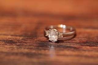 💍尊業珠寶首飾訂製💍GIA鑽石💎 18K白金鑽石戒指 1.20卡橢圓形主石 💍💍 Diamond Ring