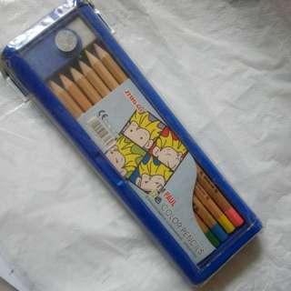 12 colors pencils