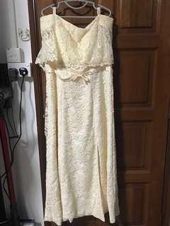 Plus size off shoulders dress/gown