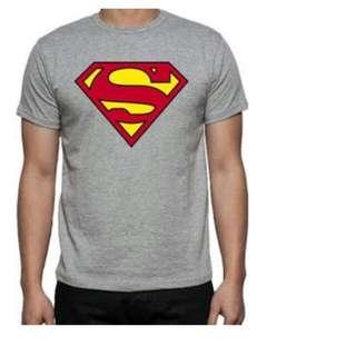 Kaos spandek abu logo superman