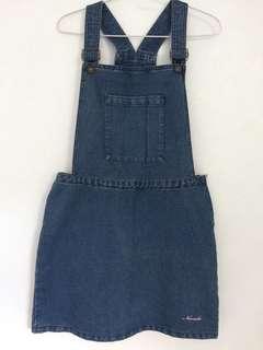 Overall denim skirt