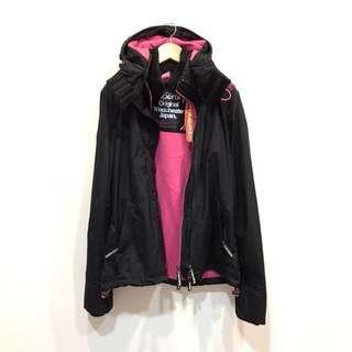 Superdry三層拉鍊防風外套