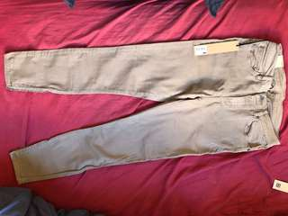 Ksubi spray on in camel size 30
