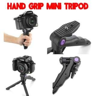TGP055 2 in 1 Portable Hand Grip Mini Tripod Stand Holder