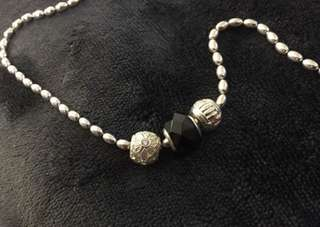 Emma & Roe Stirling Silver Rice Chain Necklace with 4 Charms and 2 Stoppers