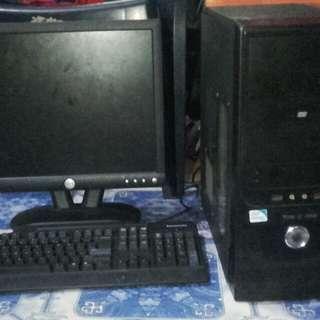 Amd athlon II x2 with monitor desktop set