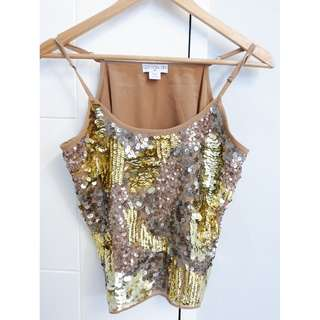 COTTON ON GOLD sequin top