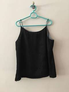 Black String top Sleeveless