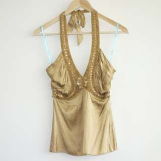 Gold Party Dress Top