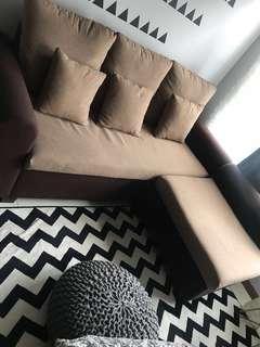 3 seater sofa with cushion