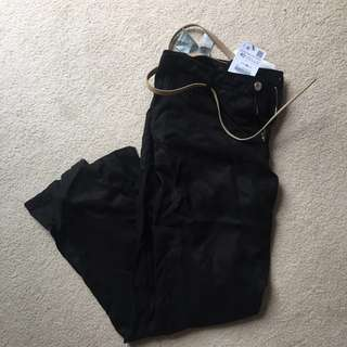 Zara black pants size 40