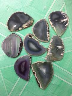 BN Agate Slices Blue/Purple