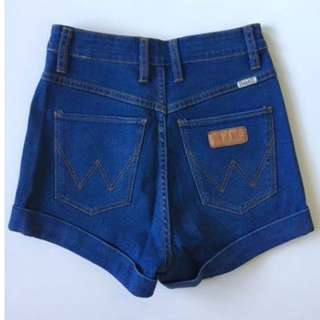 Wrangler - high waisted denim shorts