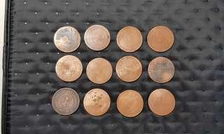 Straits Settlements Queen Victoria 1c coins