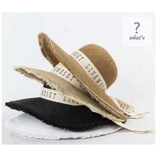 🚚 Korea 🇰🇷美式字母圓頂草帽