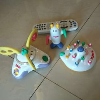 Tomy alien and spaceship rattle