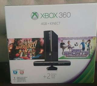 XBox 360 4GB with Kinect Asian Version Not Jail Broken