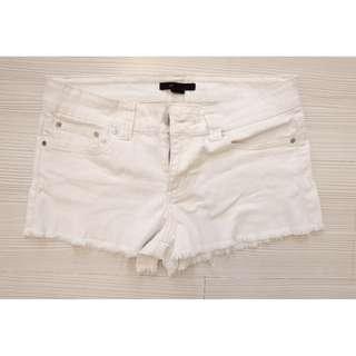 F21 WHITE denim shorts