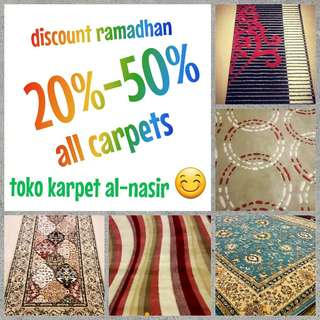 Discount ramadhan all carpets 20%-50%