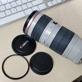 Canon 70-200 F4 連UV protecter