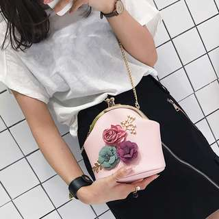 floral leather purse