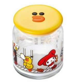 Line Friends X Sanrio Characters Glass Collection - Sally