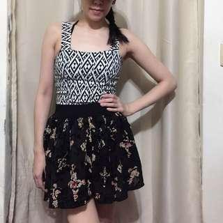 🚚 (190以下3件350)黑色紗裙短裙巴洛克