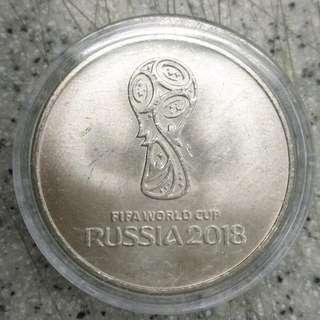 RUSSIA 2018--世界盃--FIFA WORLD CUP 25盧布紀念幣