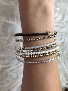 Brown and White Bangles