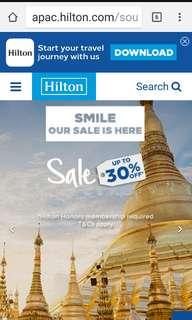 Hilton summer sale.